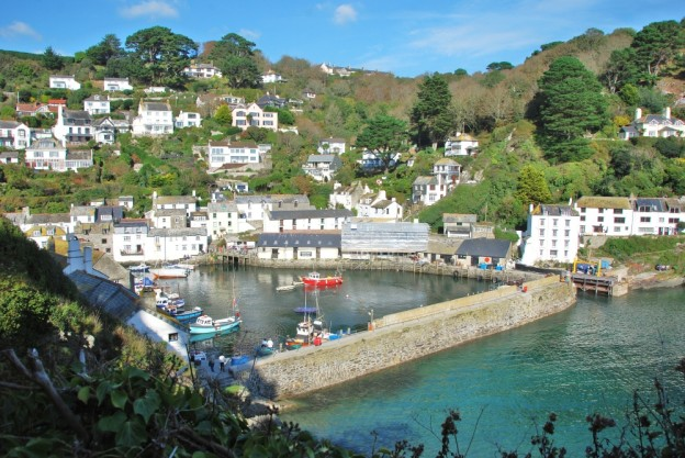 Polperro Harbour in Cornwall